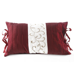 Scroll Red Cushion 30cm x 50cm