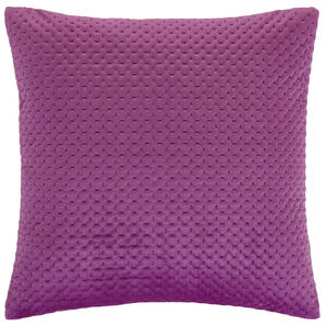 Velour Stitch Cushion 58x58cm - Cerise
