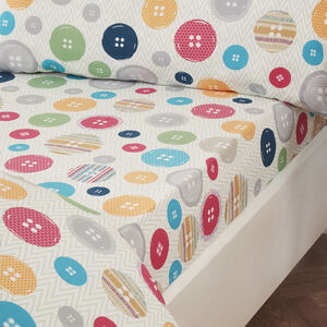Button Trees Fitted Sheet