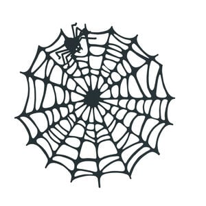 Spider Web Black Placemat