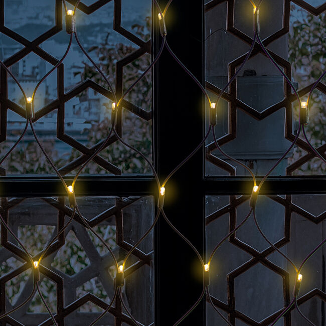100 Warm White Connectable Net Lights