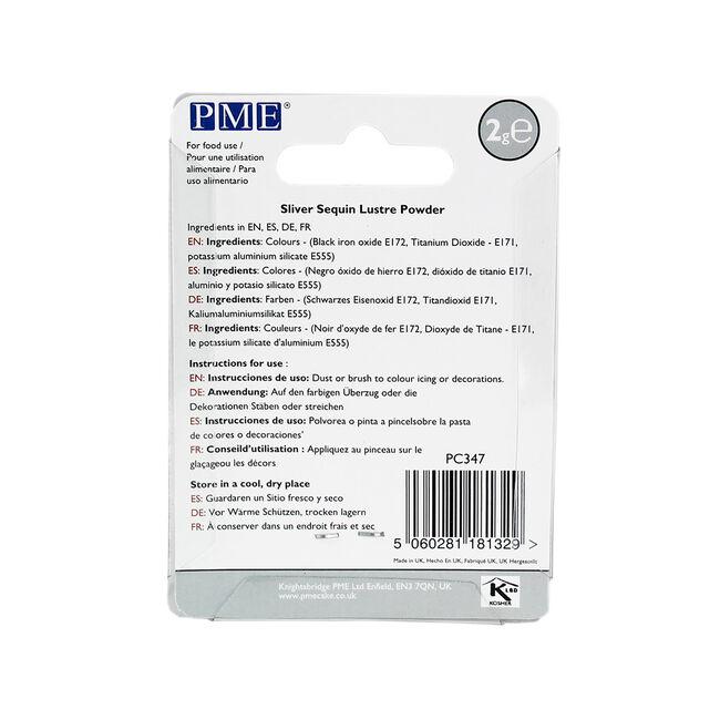 PME Lustre Powder 2g - Silver Sequin