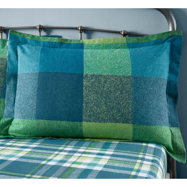 Brushed Cotton Harry Check Oxford Pillowcase Pair