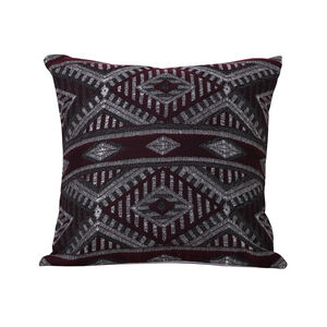 Tribal Cushion 45 x 45cm - Plum