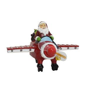 Santa Airplane with Flashing Merry Christmas