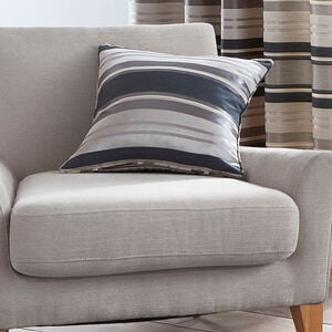 Horizontal Stripe Charcoal Cushion 45cm x 45cm