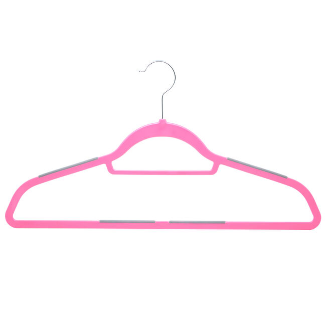 Pink Hangers with Anti Slip 10 Pack