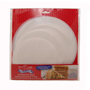 Mixed Size Baking Parchment 100Pk