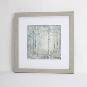 Blue Trees Framed Print 55x55cm