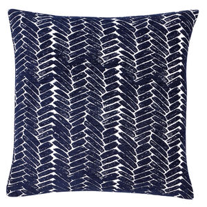 Night Peacock Cushion 58x58cm - Navy
