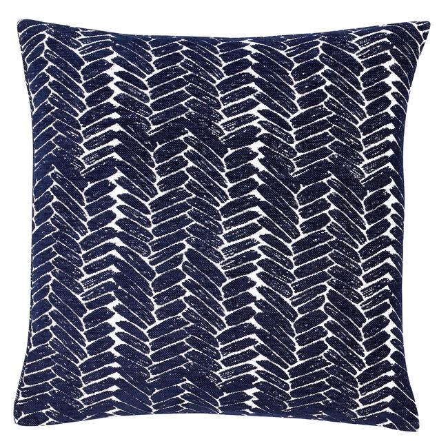 Night Peacock Cushion 58x58cm - Navy