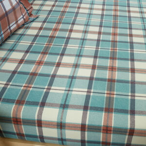 BRUSHED COTTON JORDAN CHECK Single Fitted Sheet