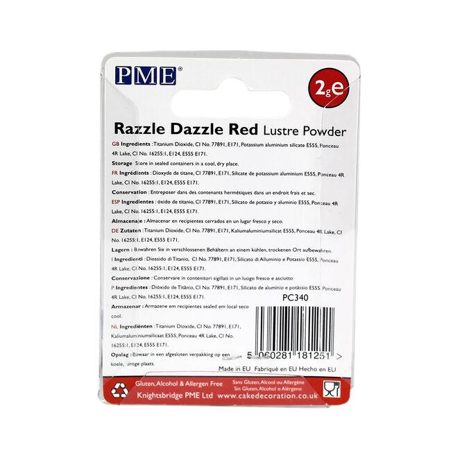 PME Razzle Dazzle Red Lustre Powder 2g