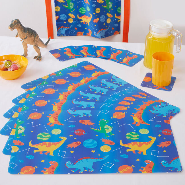 Space Dinos 6Pk Mats & Coasters