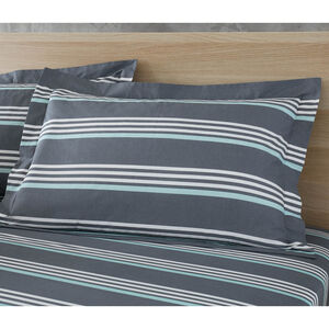 Jamie Oxford Pillowcase Pair - Grey