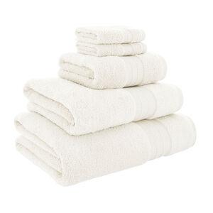 450GSM  ZERO TWIST CREAM 30*30 Face Towel 2pk