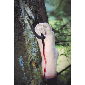 Bloody Foot on Cleaver Hook