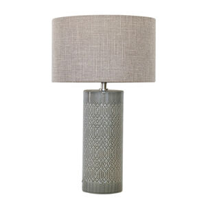 Ceramic Grey Geometric Table Lamp