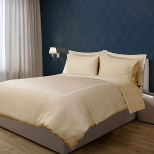 SINGLE DUVET COVER Double Stitch Gold 300tc