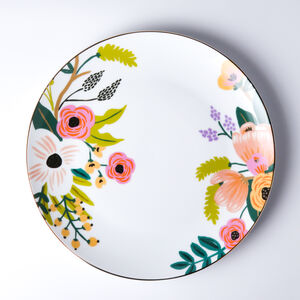 Atelier 75 Tropical Pink Flower Dinner Plate