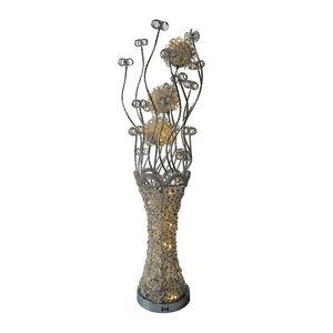 Chrome Warm White LED Vase Floor Lamp