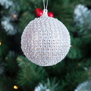Diamante Tree Ornament Silver 8cm