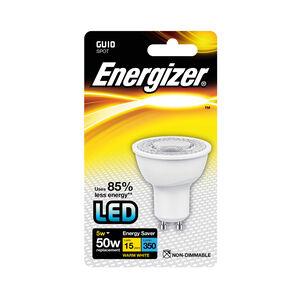Energizer GU10 LED Bulb 5W (EQ50W) 350LM