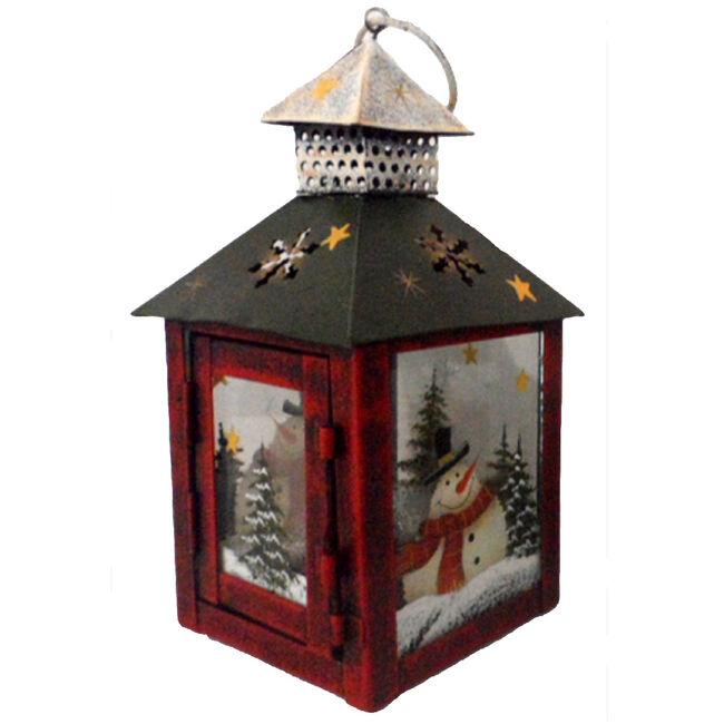 Mini Snowman Tea Light Lantern