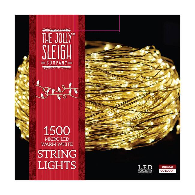 1500 Micro LED Warm White String Lights