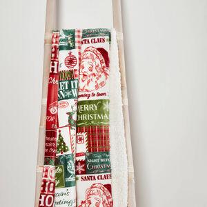 Ruane Patchwork Santa Sherpa Throw 127 x 152cm