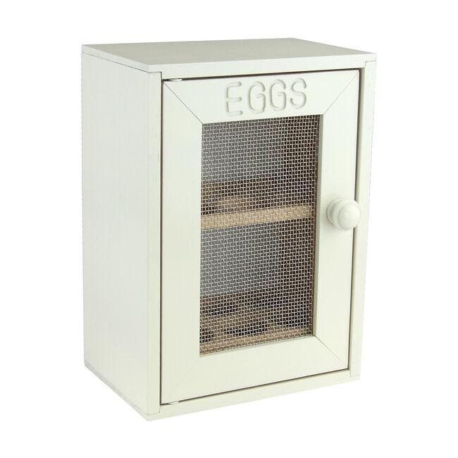 Apollo Rubberwood Cream Egg Cabinet