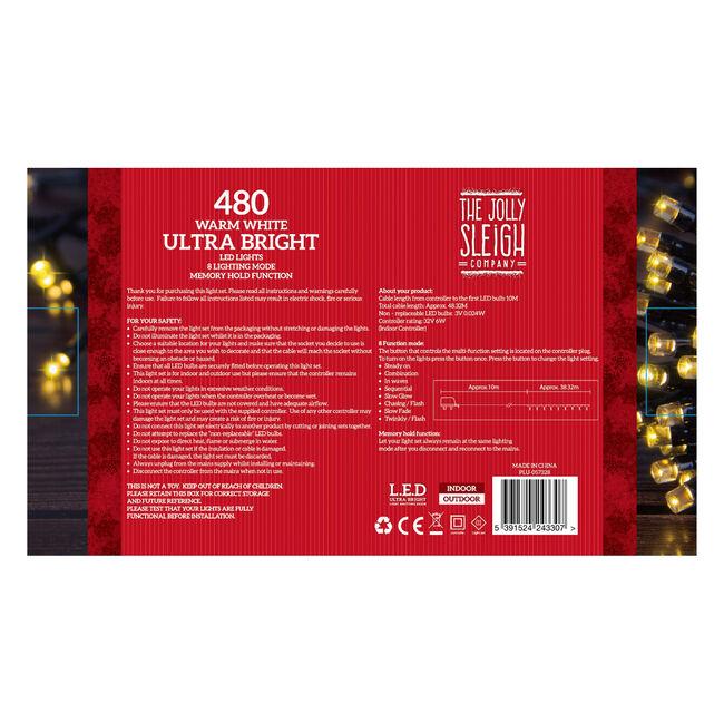 480 Warm White Ultra Bright LED Lights