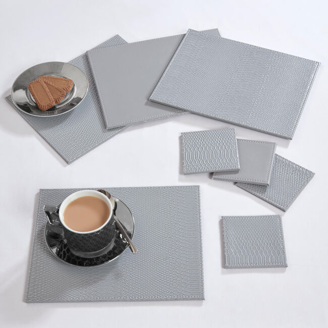 Reversible Croc Placemats - Grey