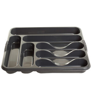 Plastic Large Midnight Cutlery Tray