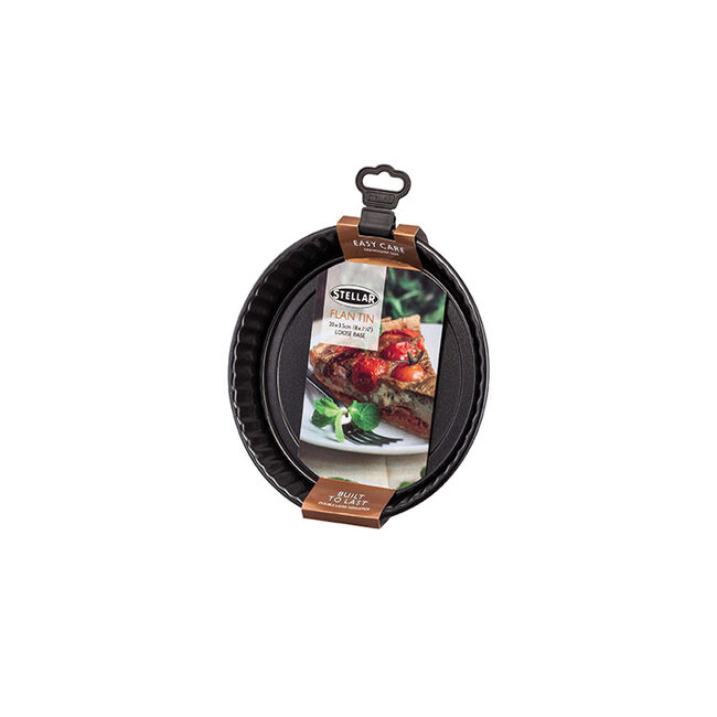 STELLAR 20x3.5cm Fluted Flan Dish