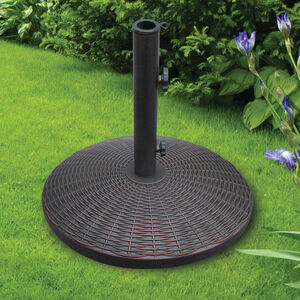 Round Wicker Effect Parasol Base 12.5kg