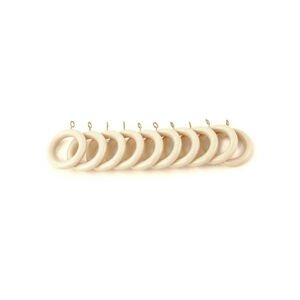 Wooden Rings Cream 10 Pack