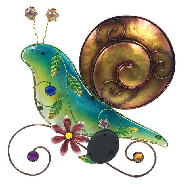 Decorative Glass Solar Snail Wall Art