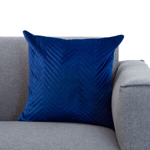 Triangle Stitch Cushion 45x45cm - Navy