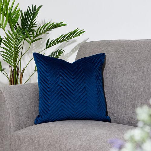 Triangle Stitch Cushion 45x45cm - Navy