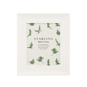Starling White Photo Frame 8x10""