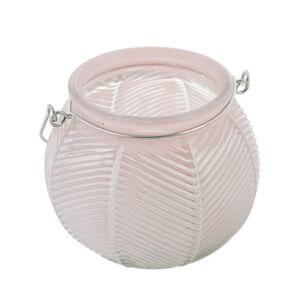 Small Pink Glass Lantern