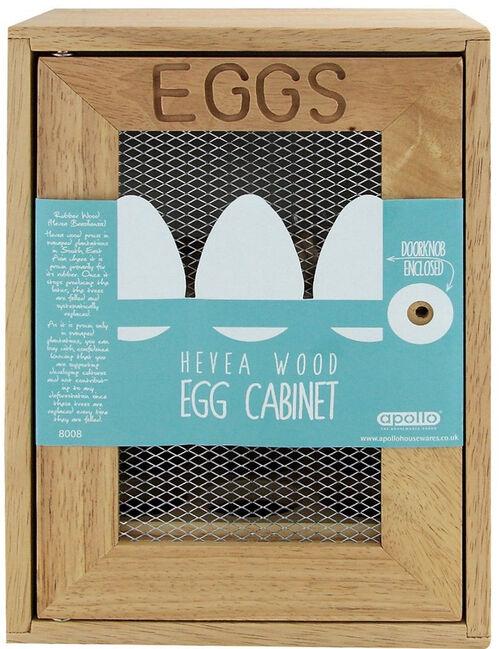 Rubberwood Egg Cabinet
