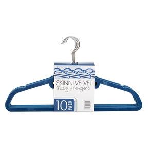Skinny Velvet Navy Hangers 10pk