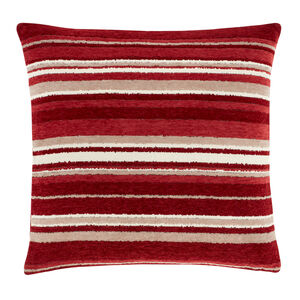 Rhea Stripe Cushion 58 x 58cm - Red