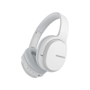 Sonarto White Bluetooth Foldable Headphones