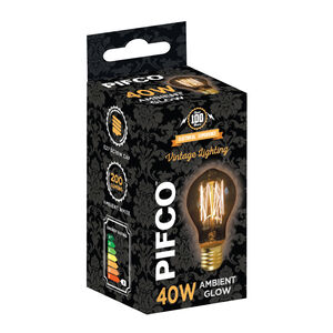 Pifco Vintage 40W Bulb (GLS ES)