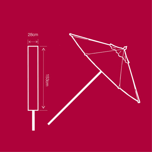 Parasol Cover 100GSM