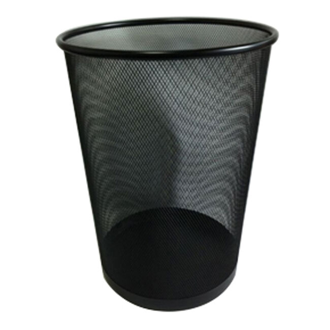 Large Mesh Waste Paper Bin Black