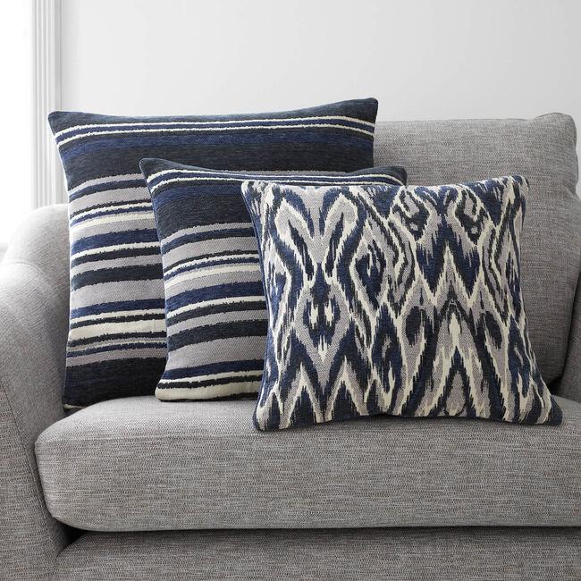 Rhea Stripe Cushion 45 x 45cm - Navy